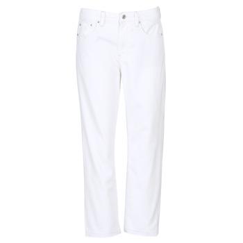 textil Dame Jeans - boyfriend G-Star Raw 3301 MID BOYFRIEND 7/8 Hvid