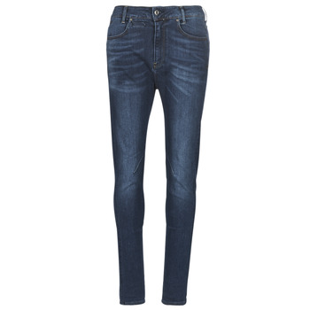textil Dame Smalle jeans G-Star Raw D-STAQ MID BOY SLIM Blå / Bleget / Medium / Ældet