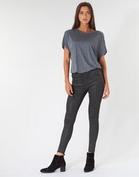 textil Dame Jeans - skinny G-Star Raw ASHTIX ZIP HIGH SUPER SKINNY ANKLE WMN Sort