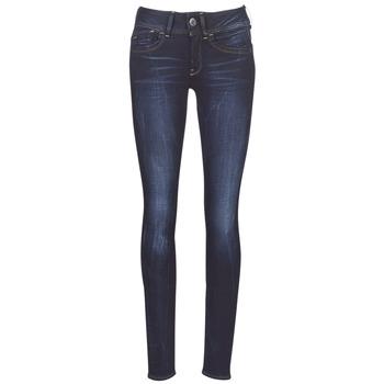 textil Dame Jeans - skinny G-Star Raw LYNN MID SKINNY WMN Blå / Bleget / Blå