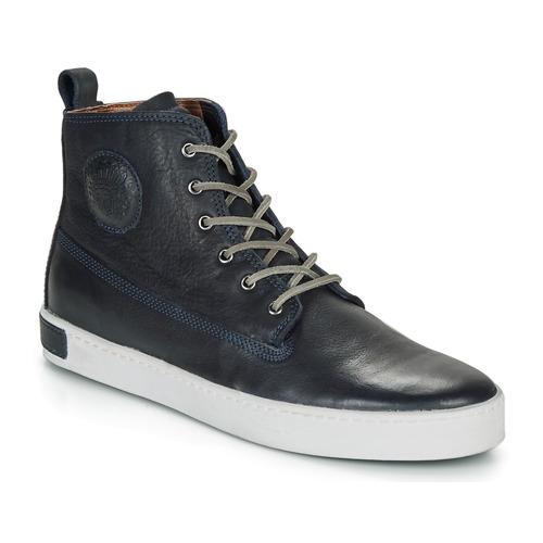 Sko Herre Høje sneakers Blackstone AM02 Marineblå