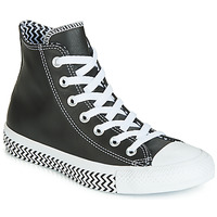 Sko Dame Høje sneakers Converse CHUCK TAYLOR ALL STAR VLTG LEATHER HI Sort