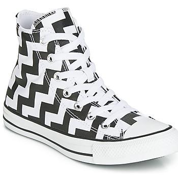 Sko Dame Høje sneakers Converse CHUCK TAYLOR ALL STAR GLAM DUNK CANVAS HI Sort / Hvid