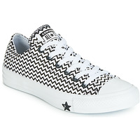 Sko Dame Lave sneakers Converse CHUCK TAYLOR ALL STAR VLTG LEATHER OX Hvid / Sort
