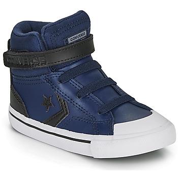 Sko Børn Høje sneakers Converse PRO BLAZE STRAP MARTIAN LEATHER HI Blå / Sort