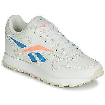 Sko Dame Lave sneakers Reebok Classic CL LTHR Beige / Blå / Orange