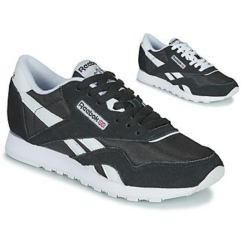 Sko Dame Lave sneakers Reebok Classic CL NYLON Sort / Hvid