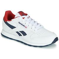 Sko Børn Lave sneakers Reebok Classic CLASSIC LEATHER J Hvid / Rød