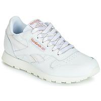 Sko Pige Lave sneakers Reebok Classic CLASSIC LEATHER J Hvid / Glitter