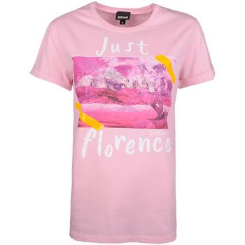 textil Dame T-shirts m. korte ærmer Roberto Cavalli  Pink