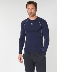 textil Herre Langærmede T-shirts Under Armour HEATGEAR ARMOUR LS COMPRESSION Marineblå
