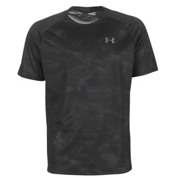textil Herre T-shirts m. korte ærmer Under Armour TECH 2.0 SS PRINTED Sort