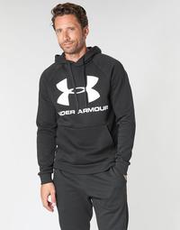 textil Herre Sweatshirts Under Armour RIVAL FLEECE SPORTSTYLE LOGO HOODIE Sort