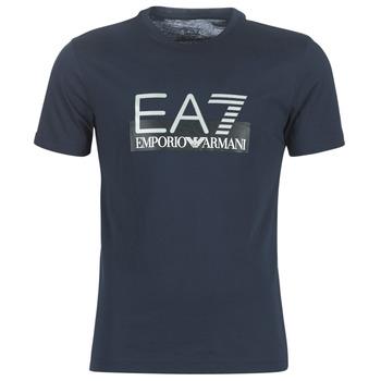 textil Herre T-shirts m. korte ærmer Emporio Armani EA7 GPT81-PJM9Z-1554 Marineblå