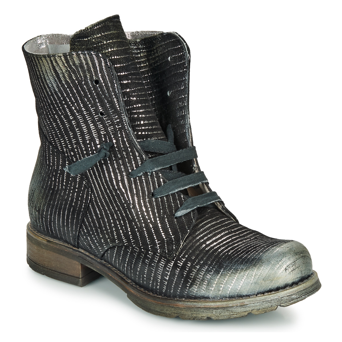 Støvler Papucei  MAURA BLACK SILVER