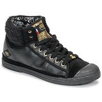 Sko Dame Høje sneakers Le Temps des Cerises BASIC 03 Sort