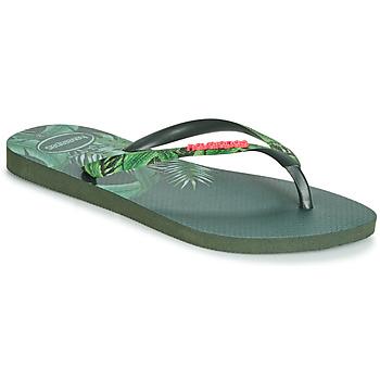 Sko Dame Flip flops Havaianas SLIM SENSATION Grøn