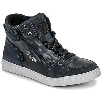 Sko Dreng Høje sneakers Bullboxer AGM531E6L-NGBLK Marineblå