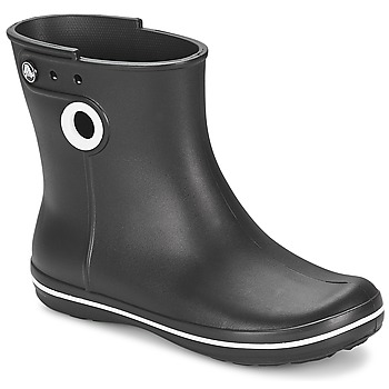 Sko Dame Gummistøvler Crocs JAUNT SHORTY BOOT W-BLACK Sort