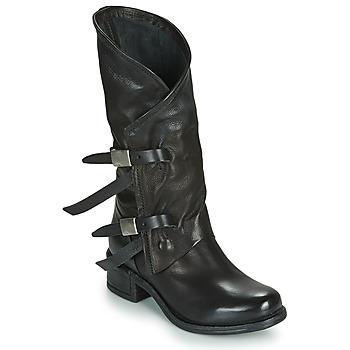 Sko Dame Chikke støvler Airstep / A.S.98 ISPERIA BUCKLE Sort