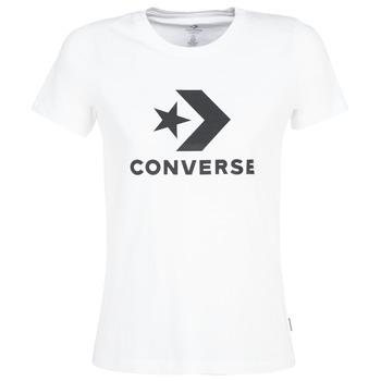 textil Dame T-shirts m. korte ærmer Converse STAR CHEVRON Hvid