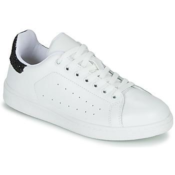 Sko Dame Lave sneakers Yurban SATURNA Hvid / Sort