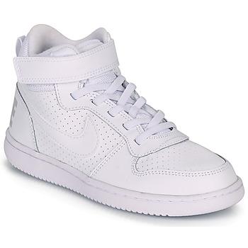 Sko Børn Høje sneakers Nike COURT BOROUGH MID PRE-SCHOOL Hvid