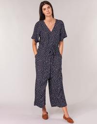 textil Dame Buksedragter / Overalls Cream GERMINA Marineblå
