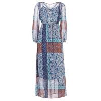 textil Dame Lange kjoler Cream SAMA Blå / Brun