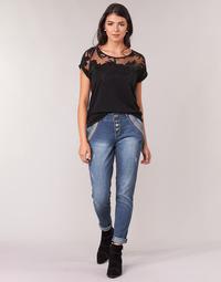 textil Dame Lige jeans Cream DICTE Blå
