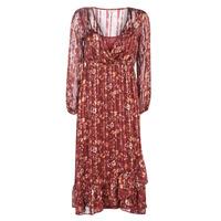 textil Dame Lange kjoler Cream NILA Rød