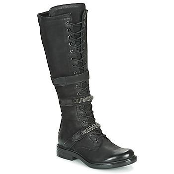 Sko Dame Chikke støvler Mjus CAFE HIGH Sort