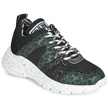Sko Dame Lave sneakers Meline LETTE Sort / Grøn