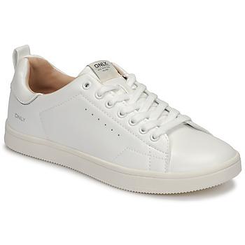 Sko Dame Lave sneakers Only SHILO PU Hvid / Sølv