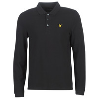 textil Herre Polo-t-shirts m. lange ærmer Lyle & Scott LP400VB-574 Sort