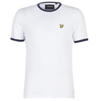 textil Herre T-shirts m. korte ærmer Lyle & Scott TS705V-Z660 Hvid
