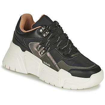 Sko Dame Lave sneakers Victoria TOTEM NYLON Sort