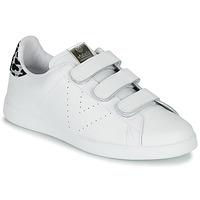 Sko Dame Lave sneakers Victoria TENIS VELCRO PIEL Hvid