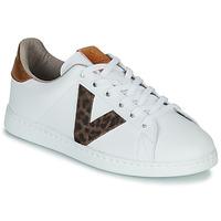Sko Dame Lave sneakers Victoria TENS PRINT Hvid