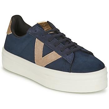 Sko Dame Lave sneakers Victoria BARCELONA DEPORTIVO Marineblå / Beige