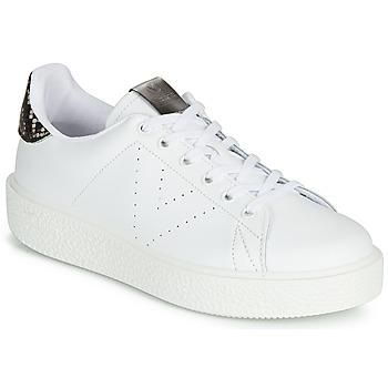 Sko Dame Lave sneakers Victoria UTOPIA RELIEVE PIEL Hvid