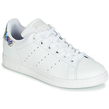 Sko Pige Lave sneakers adidas Originals STAN SMITH J Hvid / Sølv