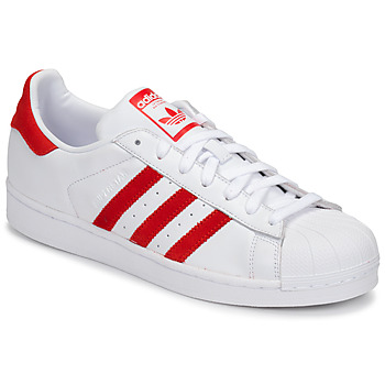 Sko Lave sneakers adidas Originals SUPERSTAR Hvid / Rød