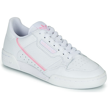 Sko Dame Lave sneakers adidas Originals CONTINENTAL 80 W Hvid / Pink