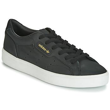 Sko Dame Lave sneakers adidas Originals SLEEK W Sort
