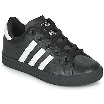 Sko Børn Lave sneakers adidas Originals COAST STAR C Sort / Hvid
