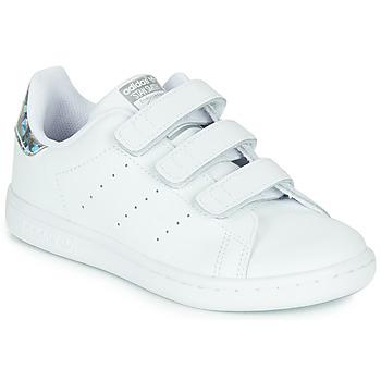 Sko Pige Lave sneakers adidas Originals STAN SMITH CF C Hvid / Sølv