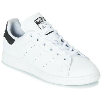 Sko Børn Lave sneakers adidas Originals STAN SMITH J Hvid / Sort
