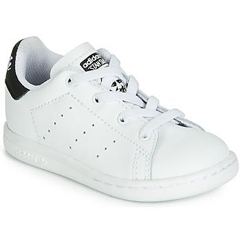Sko Børn Lave sneakers adidas Originals STAN SMITH EL I Hvid / Sort