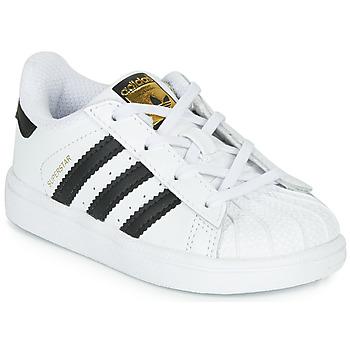 Sko Børn Lave sneakers adidas Originals SUPERSTAR I Hvid / Sort